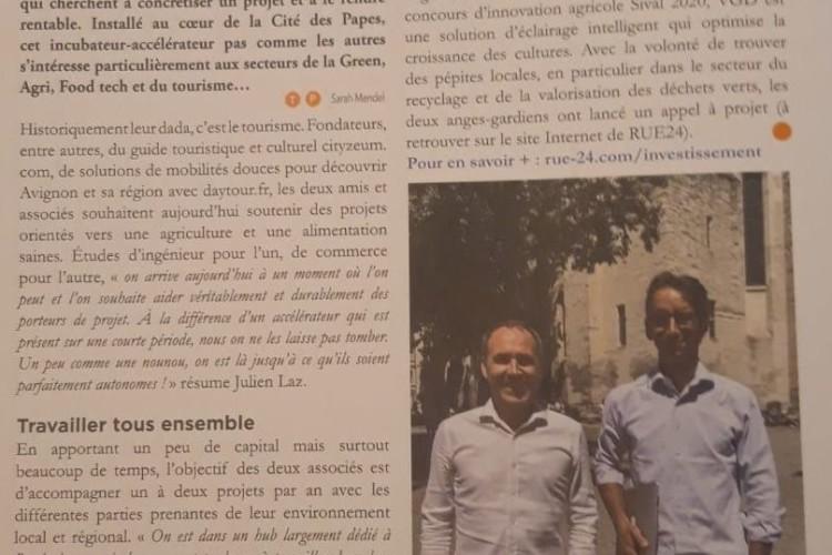 RUE24 dans le magazine septembre des Avignonnais