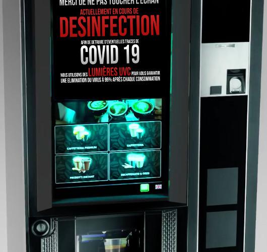 La désinfection par la lumière des écrans tactiles et automates